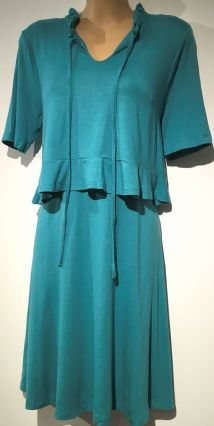ASOS PALE AQUA FRILLED PANEL FRONT NURSING DRESS SIZE UK 10
